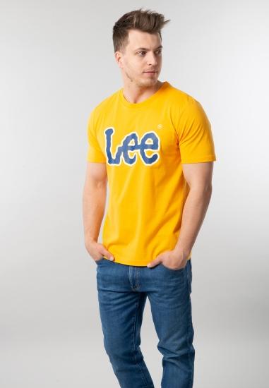 T-shirt męski z nadrukiem Lee