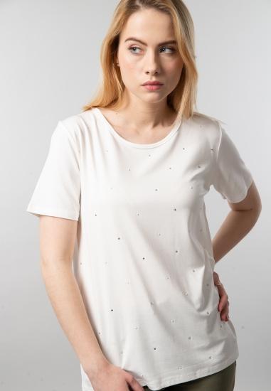 T-shirt damski z brylancikami Main&Land
