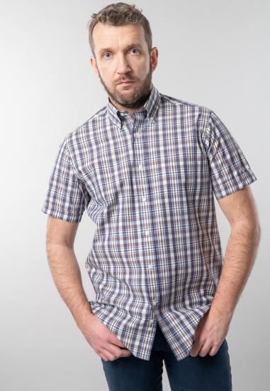 Koszula w kratkę z krótkim rękawem regular fit Curty Island