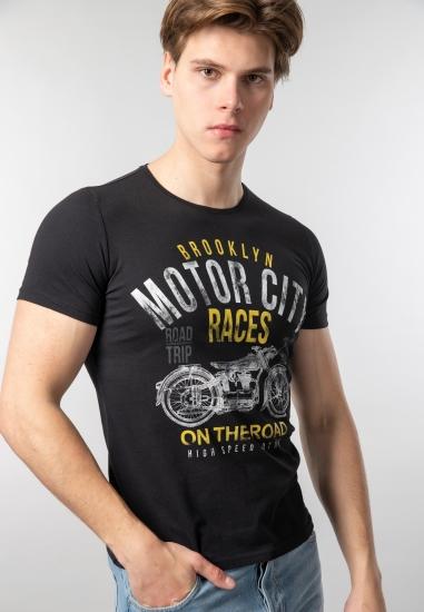 T-shirt męski z nadrukiem Joggy