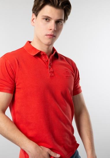 T-shirt męski polo basic...