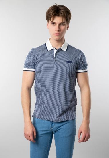 T-shirt męski polo w paski...