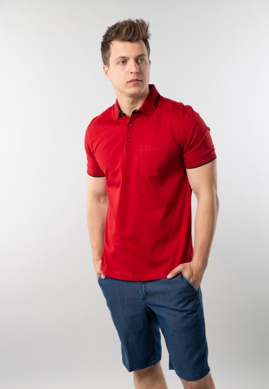 T-shirt męski polo Rotte...