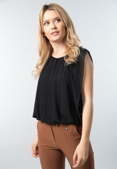 Bluzka damska z drapowaniem Ake