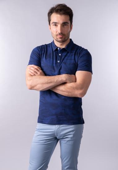 T-shirt męski polo Navigare