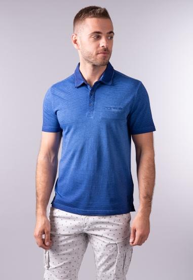 T-shirt polo w paski Pierre Cardin