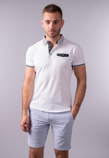 T-shirt męski polo Yes Zee...