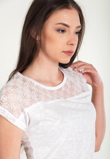 Koszulka z koronkową wstawką MXO
