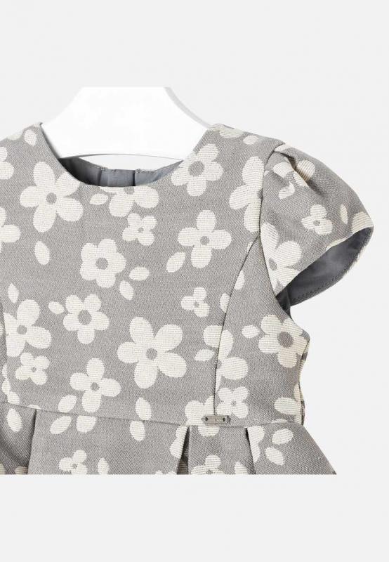 Żakardowa sukienka w kwiatki Mayoral