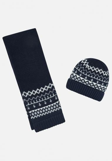 Komplet chłopięcy czapka + szalik Mayoral baby - 00727 GRANAT