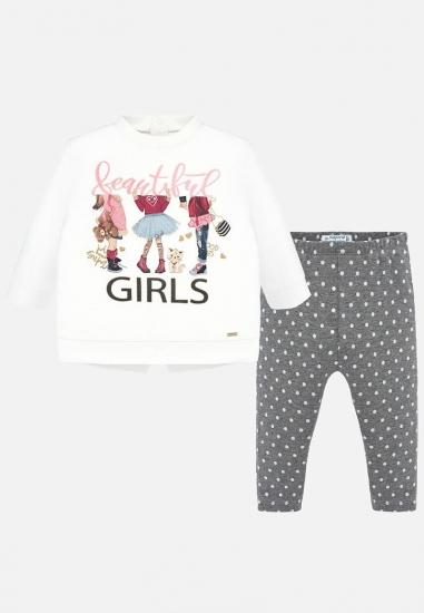 Komplet dziewczęcy legginsy + koszulka Mayoral