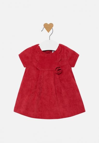 Sztruksowa sukienka dziewczęca Mayoral newborn - 00632 CZERWONY