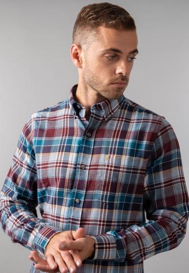 Flanelowa koszula męska w kratkę Izod
