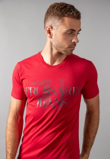 T-shirt męski z nadrukiem Trussardi Jeans