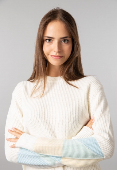 Sweter z grubszej dzianiny z domieszką wełny Calvin Klein