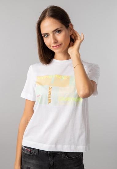 T-shirt damski z nadrukiem Calvin Klein