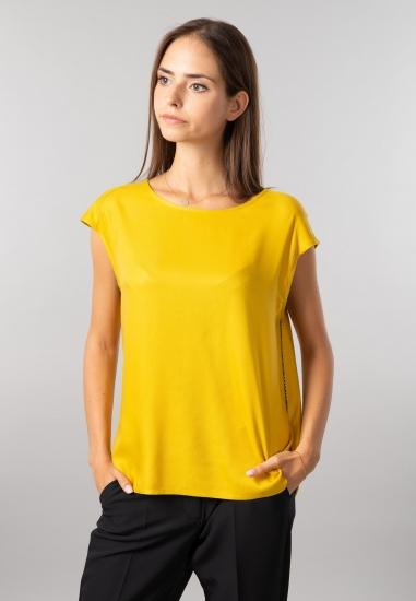 Koszulka damska z wiązaniem Cecil - 00511892 ZOLTY