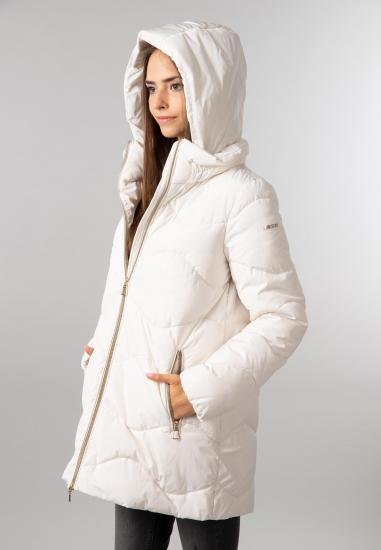 Puchowa kurtka damska z kapturem Geox