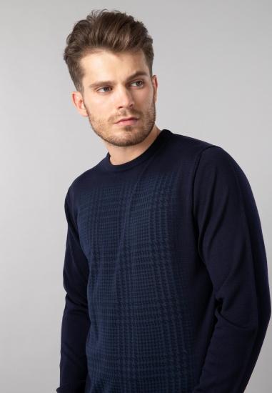Wełniany sweter męski basic...