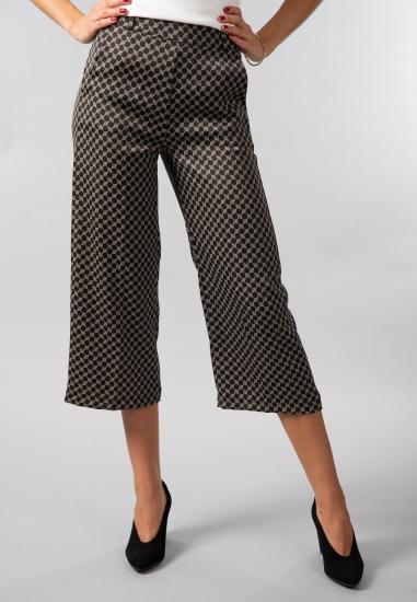 Wzorzyste spodnie culotte Rosa G