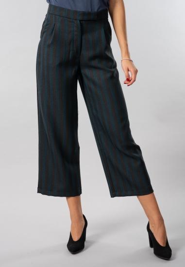 Spodnie culotte w paski Eks...