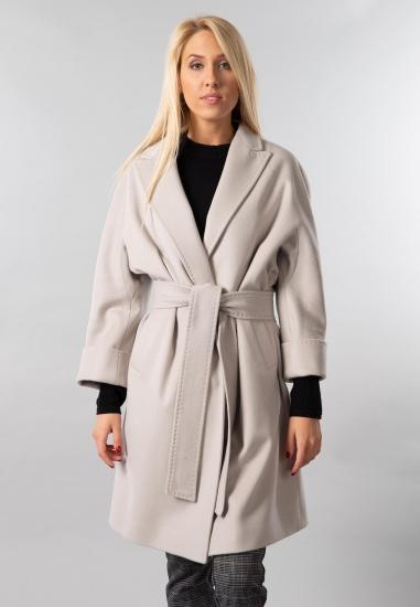 Wełniany płaszcz z paskiem Martellini