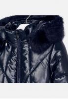 Długa dziewczęca kurtka z kapturem Mayoral