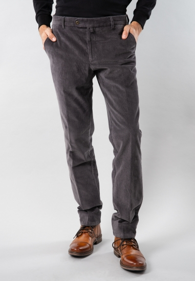 Spodnie męskie sztruksowe regular fit Rotte Mediterranee