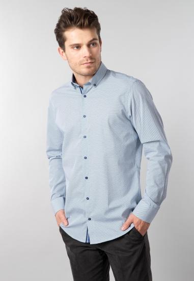 Koszula męska Redmond - 00710 GRANAT-BIALY