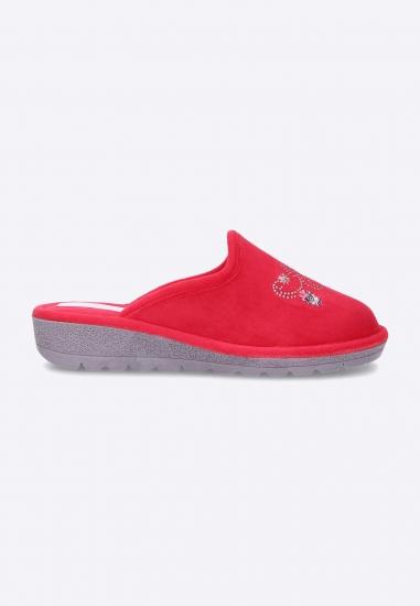 Pantofle damskie 3Rose - 006CZERWONY