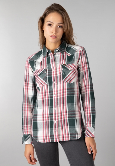 Damska koszula w kratę...