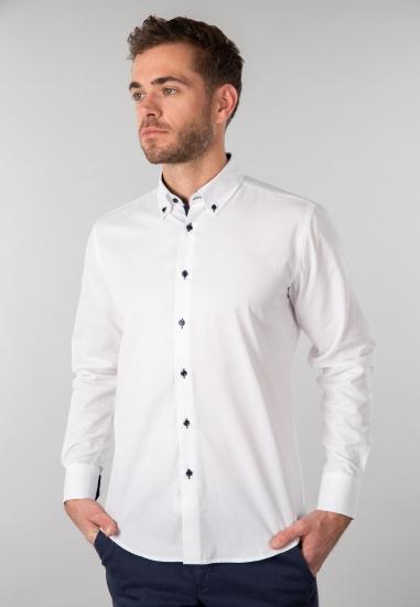 Koszula męska Re del Mare - 0011 BIALY
