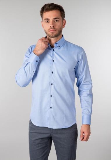 Koszula męska Re del Mare - 0079 NIEBIESKI