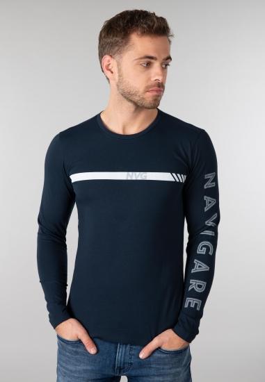 Koszulka męska NAVIGARE - 007001 GRANAT