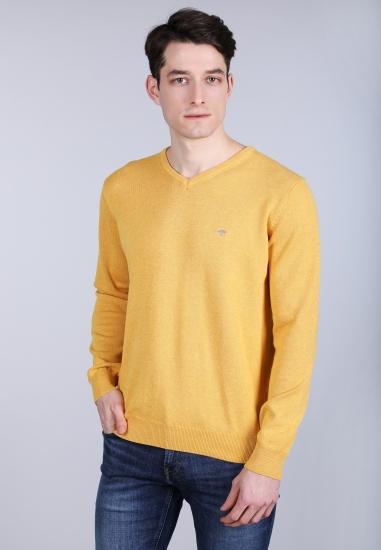 Sweter z dekoltem w serek Fynch-Hatton