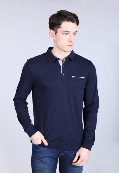 Męska koszulka polo z długim rękawem Pierre Cardin