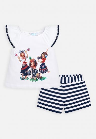 Komplet koszulka z szortami dla dziewczynki Mayoral