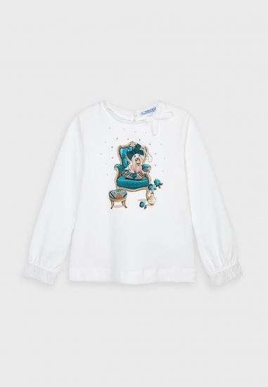 Koszulka z długim rękawem dla dziewczynki Mayoral