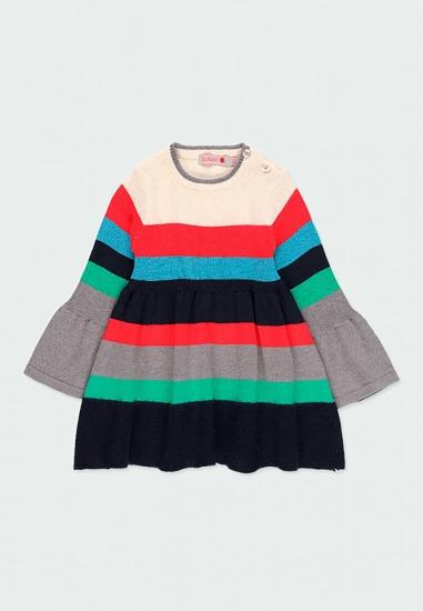 Sukienka dzianinowa dla dziewczynki Boboli