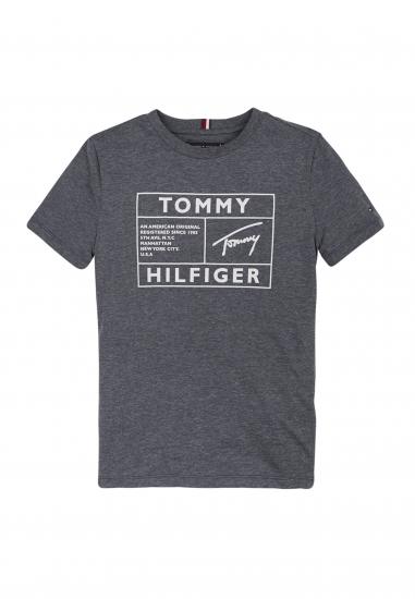 T-SHIRT TOMMY HILFINGER Z ODBLASKOWYM LOGO