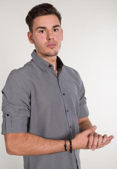 Koszula w w drobne kropki EKS