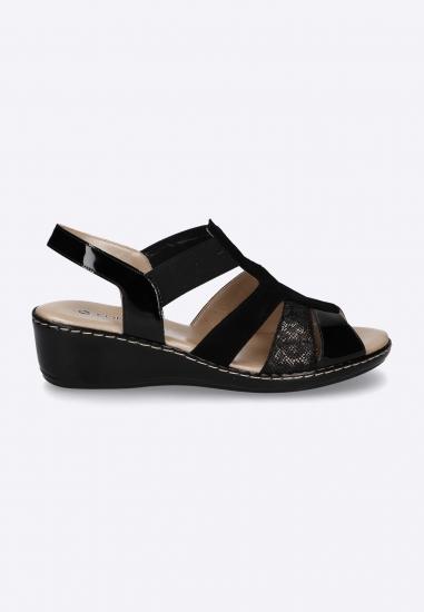 Sandały damskie na koturnie CONFORT